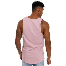 Wholesale 100% Cotton Men Custom Running Vest Men's Stringer American Flag Tank Top with Extreme Dropped Armhole for Men