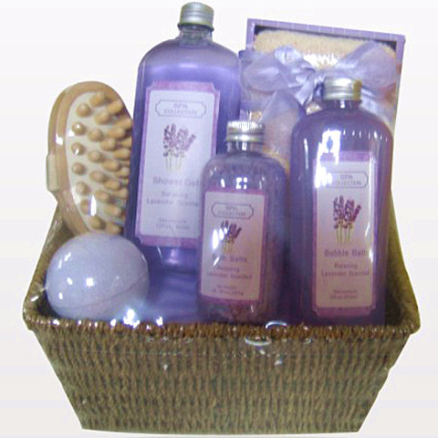 Classical Handmade basket elaborate bath gift set