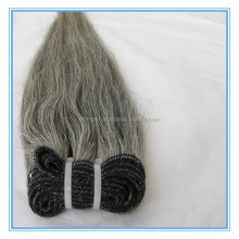 peruvian virgin hair 100 grey human hair straight gray hair weave