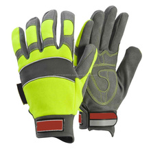 Leather Mechanic Gloves Fingers Protection Cut Resistant