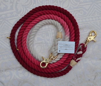 MAROON OMBRE DOG ROPE LEASH AND MATCHING COLLAR SET AT VERY BEST PRICE
