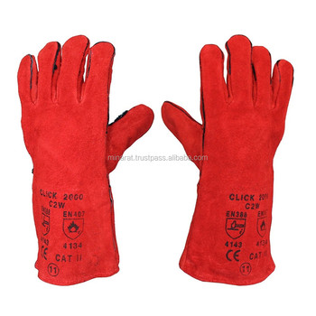 Red Genuine Lincoln K4082 Welding Gloves Red Line LG MD XL Mig Stick Heavy Duty