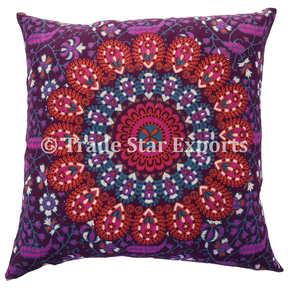 Home Decor Cushion Throw Cover Screen Print Cotton Fabric Pillow Case Online Shopping India Pillow Cover