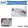 Fresh sea bass, High Quality Tunisian Farm Fish.300g. ISO and FDA certified