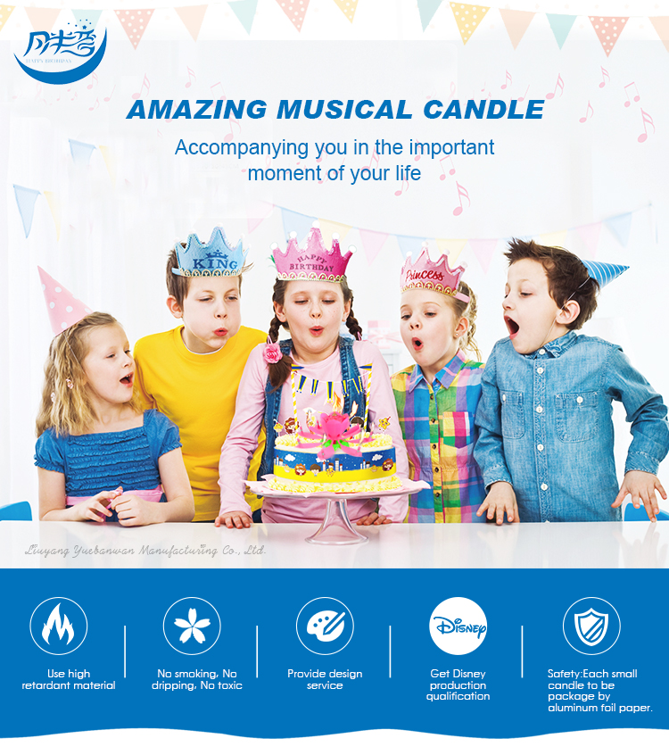 Unique Birthday Candles flower shape musical birthday candles CE/ROHS/FDA