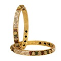 Gold Plated Traditional Bangles Size: 2.6