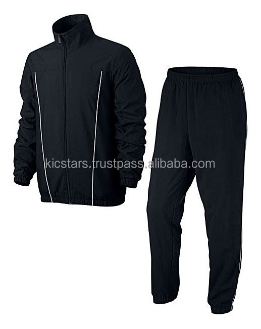 Elastic Cuffs Track Suit with Piping design Track Suit / Warm Up Suit for Gym / Training / Jogging / Exercise 2017-18