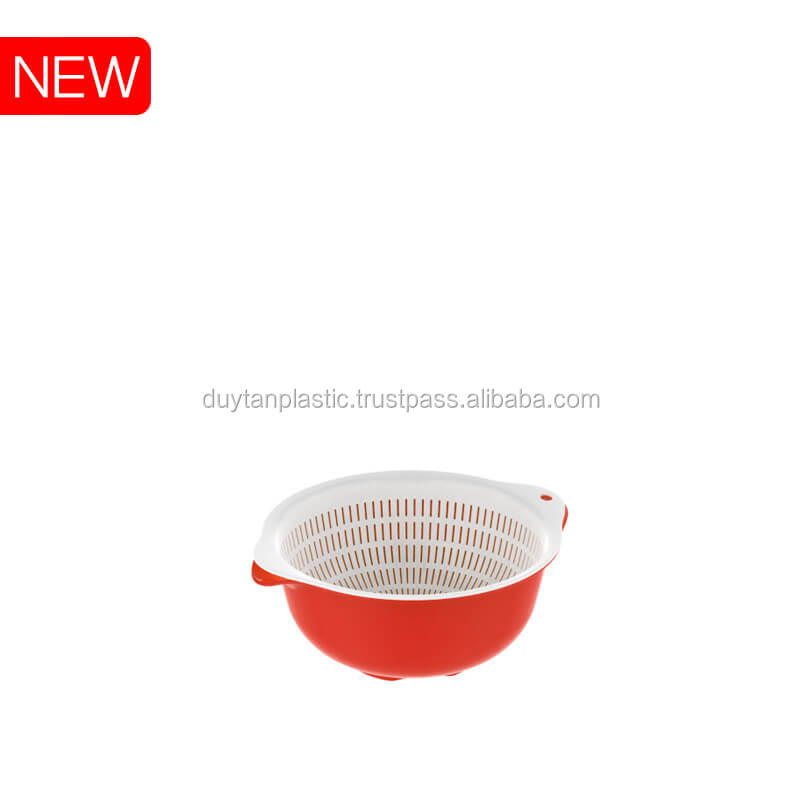Plastic round basket basin 494 Duy Tan Plastics made in Vietnam export to China
