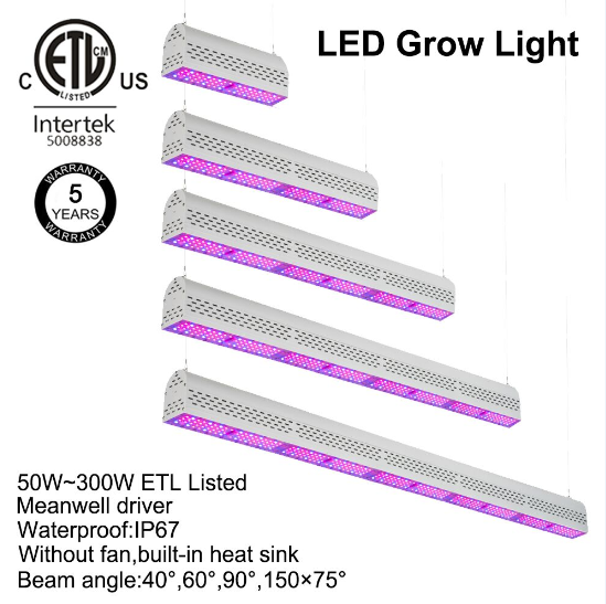 USA ETL cETL high lumen full spectrum medical plant led grow light waterproof