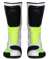 White Lime Green / new arrive motorcycle motorbike men racing boots / Motocross Boots/ Motorbike Shoes