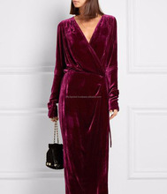 Muslim Dress Dubai Abaya 2017 Simple Velvet Mulberry Purple Colour Unique Style