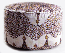 Indian star mandala ottoman cover poufs large cover bohemian cotton handmade decor throw pouffe footstool