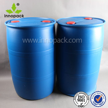 large food grade plastic drum 200 liter with closed top for sale