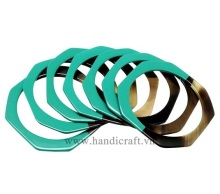 The horn bracelet is a very personal combination of colorful lacquer HD00410