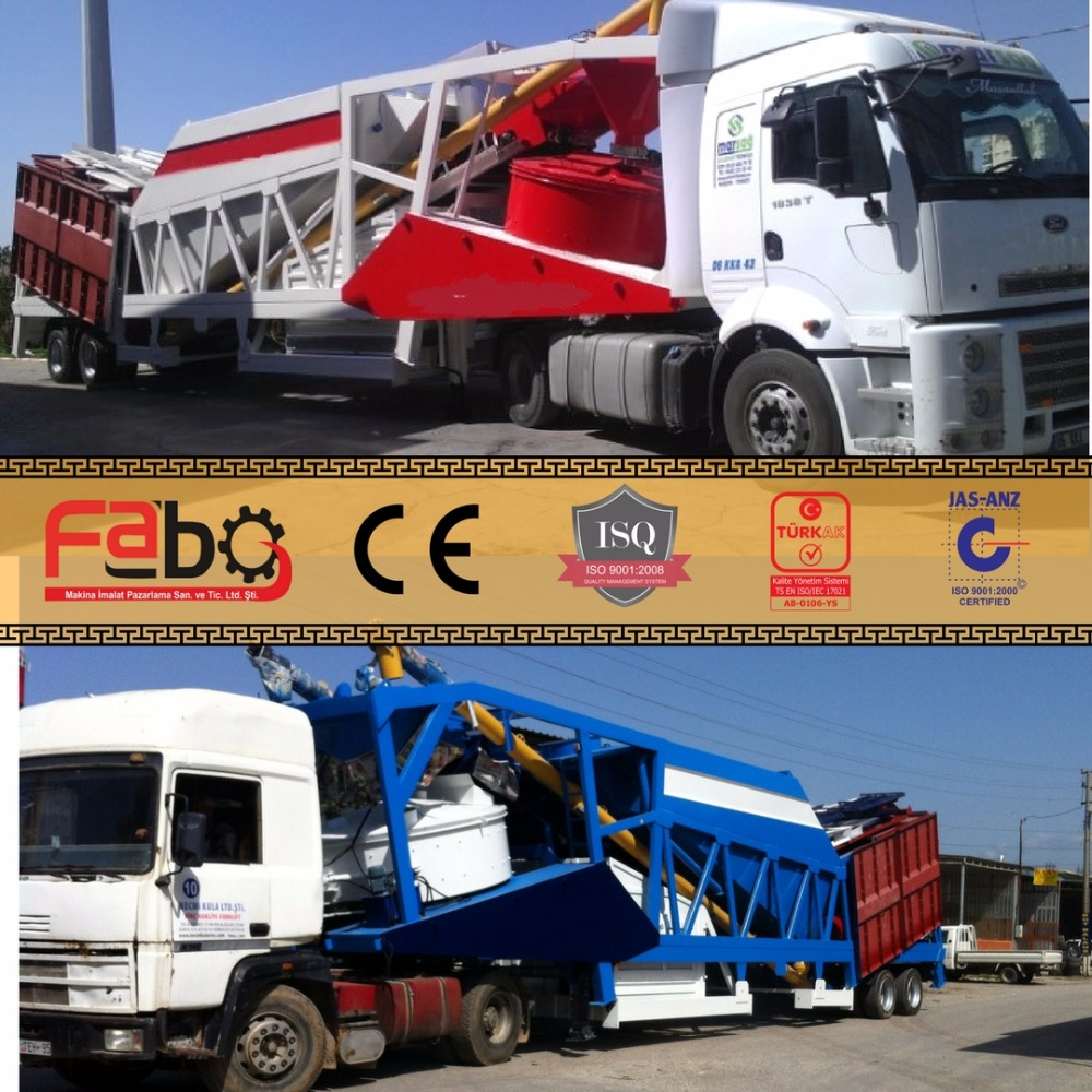 30m3/h Manufacturers Price Small Portable Mini Mobile Ready Mix Cement Concrete Batching Plant