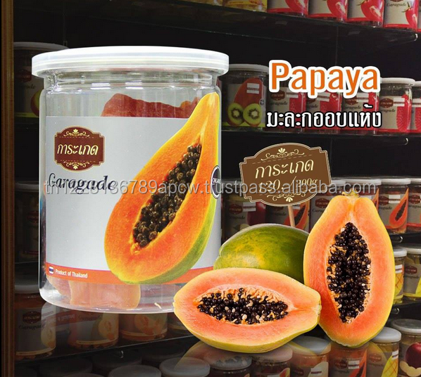 100% Natural & Premium Dried Papaya Thailand