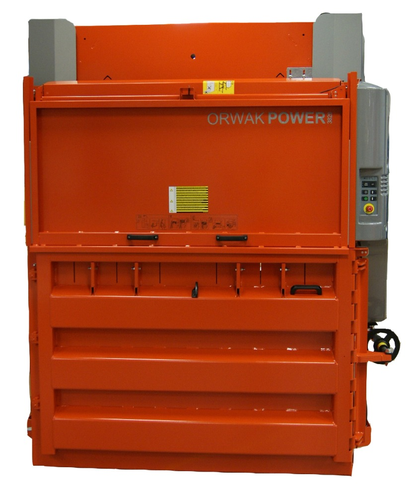 Orwak Power (26 Ton) Plastic, Waste, Recycling Cardboard Baler, Waste Compactor