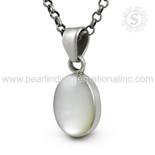 100% real pure mother of pearl 925 sterling silver oval pendant jewelry wholesale sterling silver pendants suppliers