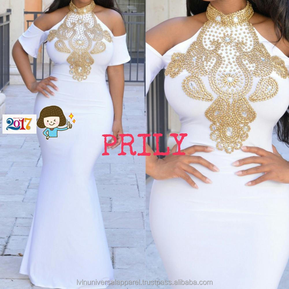 GKC Prily Morocco White Dubai Kaftans For Women Prom Dress Collections