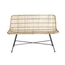 Leisure Natural Rattan Chair Metal Leg Living Room Furniture