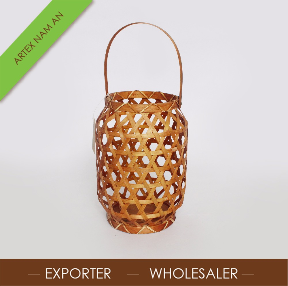 2017 Hot Decoration Vintage Candle Lantern Vietnamese Bamboo Weaved Lantern in Vietnam