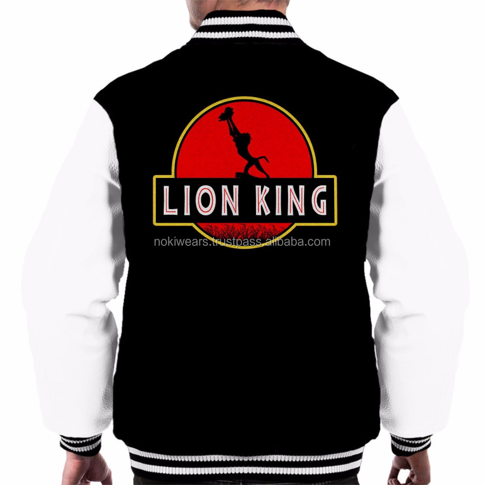 lion king fan club printed varsity jackets/custom varsity jackets/NWSJ-1045/AT NOKI
