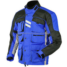 Men's Cordura Blue Custom Racing Waterproof/Windproof Protective Gear Textile Motorbike Jacket