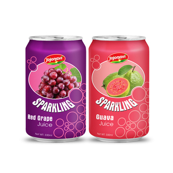 Natural Fruit juice Sparkling Guava juice Sparkling in can 330ml