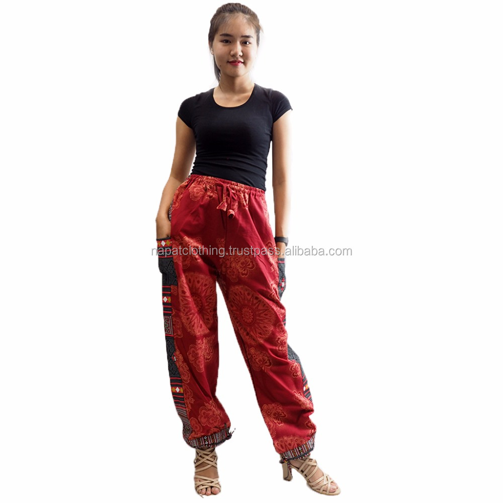 NAPAT Cotton Drawstring Baggy Loose Pant Gorgeous Printing