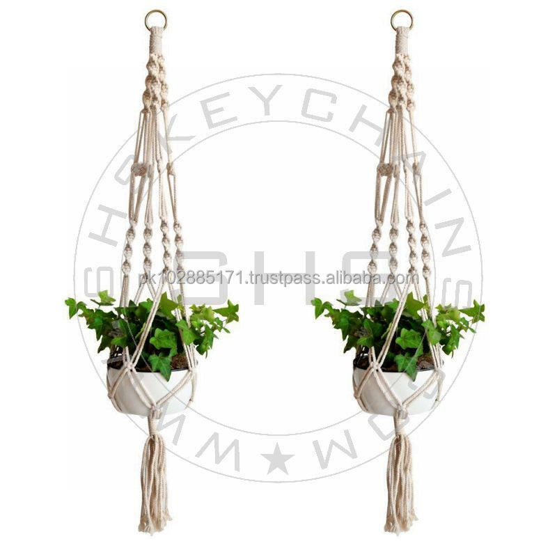 Home Decor Macrame Plant Holders-Cotton