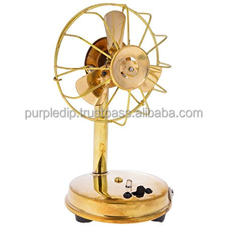 Handcrafted Brass Vintage Miniature Table Fan