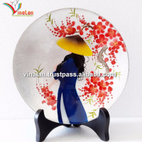 Vietnam Lacquer Plate For Home Decor