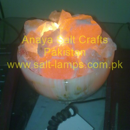 Himalayan Salt Fire Bowl Lamp / Himalayan Fancy Crystal Fire Bowl Salt Lamps Pakistan