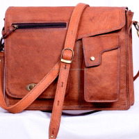Genuine Goat Leather Vintage Cross Bag