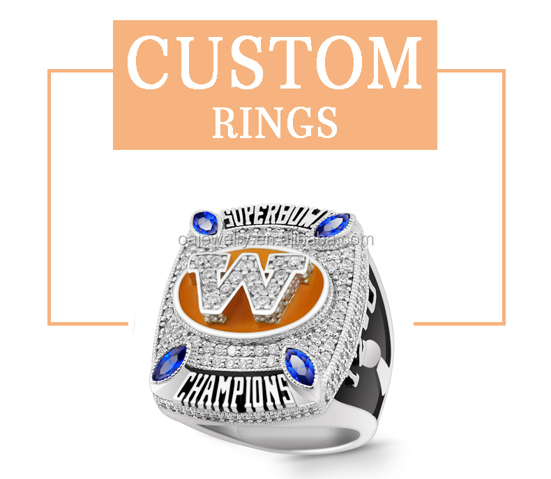 custom silver softball champions ring with red garnet stone
