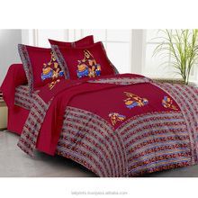 Bed sheet maroon traditional bed linen king size cotton bed sheets patchwork handmade bedding set embroidery bedsheet