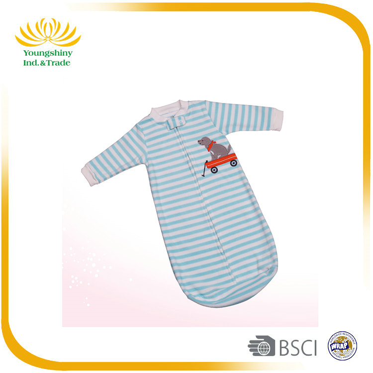 100% polyester one size for 0-12m baby sleeping bag