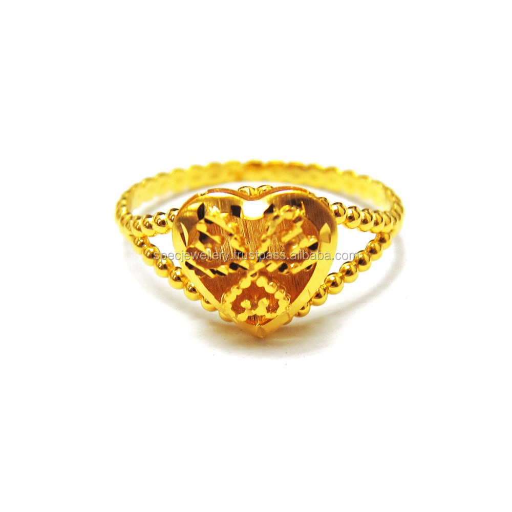 Dubai Middle East Arabic Gold Jewellery Dubai Light Weight 18k 21k 22k Fine Yellow Gold Ring