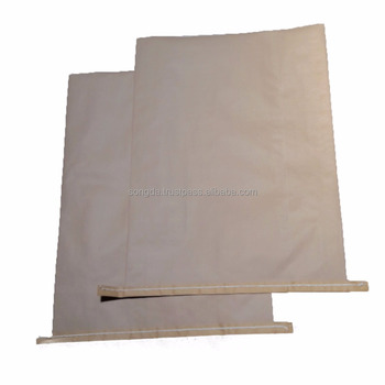 Two layer big kraft paper bag for industry packing