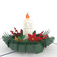 Merry Christmas Warmest Candle of Winter 3d popup christmas cards