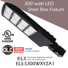 Shoebox Light 300 watt LED Street Light Fixture DLC UL CUL Listed 1000 watt Metal Halide Replacement