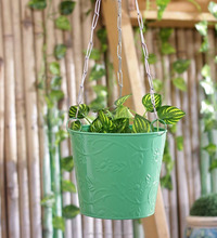 2018 New Designed cheapest Green metal flower pot and hanging garden planter