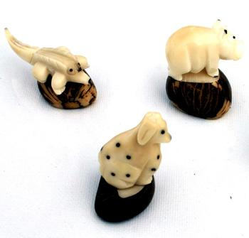 Miniature figurines Tagua Nut Statues Exotic Animals Design Handmade Carving Decoration Great Novelty Gifts Ornament Ecuador Art