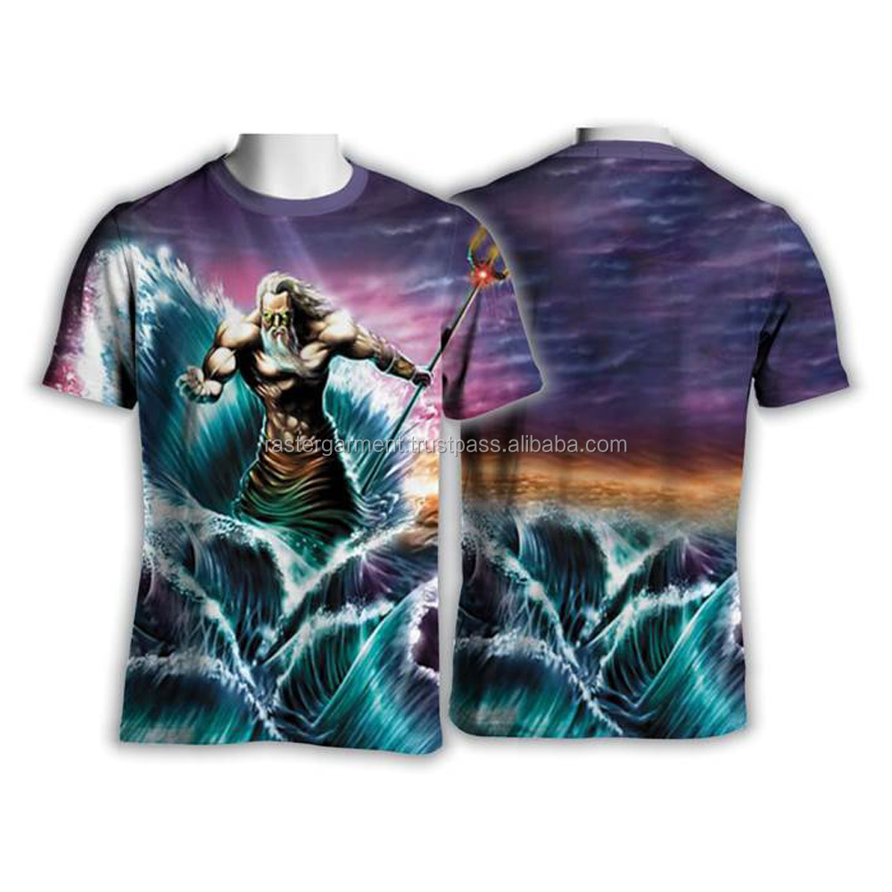 Cool Bulk Full Body Zeus Printing Tshirt Fashion Clothes For Men 2017