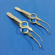 Micro dressing Ophthalmic Forceps Curved Surgical