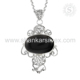 Stunning black onyx gemstone silver jewelry handmade pendant 925 sterling silver jewelry supplier