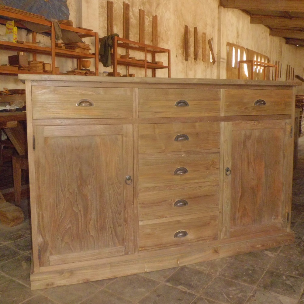 Jokowi's Modern Recycled Teak Wood Tv Cabinet with Drawer Burma Furniture