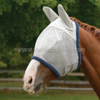 FLY MASK for Standard Size HORSE WITH COVERS EARS Sun Protection