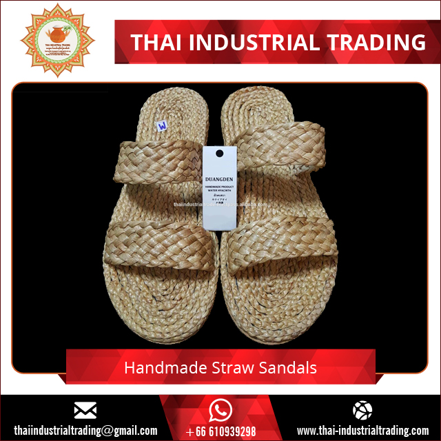 Woven Straw Flip Flops Water Hyacinth Slippers Sandals Original products from Thailand