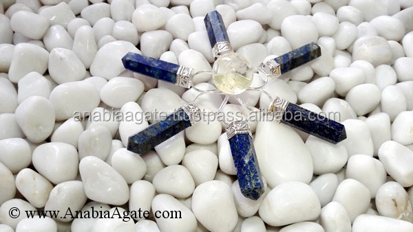 Crystal Quartz Pencil Point Energy Generators With Natural Black Tourmaline Points